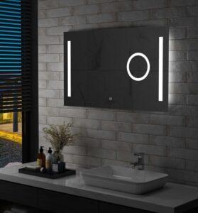 Espelho de parede LED c/ sensor tátil casa de banho 100x60 cm - PORTES GRÁTIS