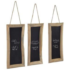 Quadro-negro 3 pcs 30x70 cm madeira de teca - PORTES GRÁTIS