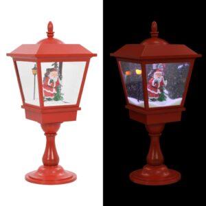 Candeeiro pedestal natalício com Pai Natal 64 cm LED - PORTES GRÁTIS