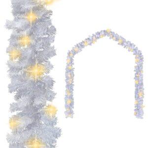 Grinalda de Natal com luzes LED 5 m branco - PORTES GRÁTIS
