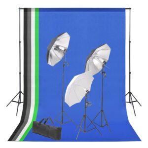 Kit estúdio de fotografia com conjunto de fundos e iluminação - PORTES GRÁTIS