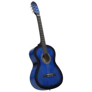 Guitarra Clássica Para Iniciantes  4/4 39 Madeira de Tilia Azul - PORTES GRÁTIS