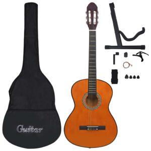 Conjunto 12 Peças Guitarra Clássica Iniciantes 4/4 39 - PORTES GRÁTIS