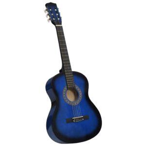 Guitarra Clássica Iniciantes/Crianças 3/4 36 Azul - PORTES GRÁTIS