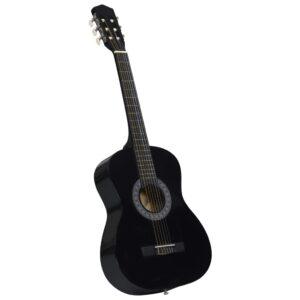 Guitarra Clássica Iniciantes/Crianças 3/4 36 Preto - PORTES GRÁTIS