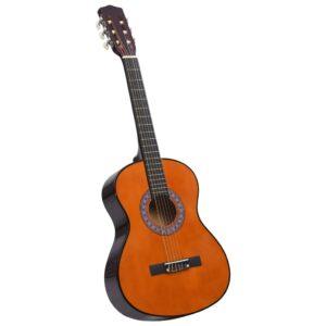 Guitarra Clássica Iniciantes/Crianças 3/4 36 Madeira de Tilia - PORTES GRÁTIS