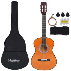 Conjunto 8 Peças Guitarra Clássica Crianças/Iniciantes 3/4 36 - PORTES GRÁTIS