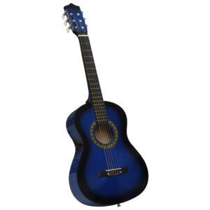 Guitarra Clássica Iniciantes/Crianças 1/2 34 Azul - PORTES GRÁTIS