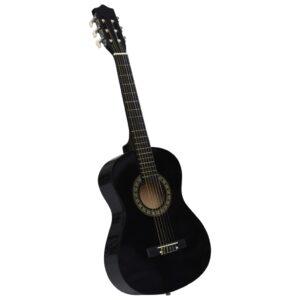 Guitarra Clássica Iniciantes/Crianças 1/2 34 Preto - PORTES GRÁTIS