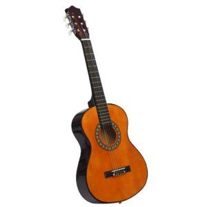 Guitarra Clássica Iniciantes/Crianças 1/2 34 Madeira de Tilia - PORTES GRÁTIS