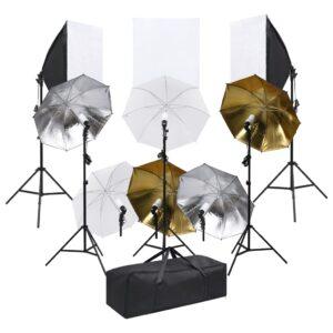 Kit de estúdio fotográfico c/ conjunto iluminação e softboxes  - PORTES GRÁTIS
