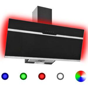 Exaustor RGB LED 90 cm Aço Inoxidável e Vidro Temperado - PORTES GRÁTIS
