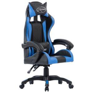 Cadeira de Gaming / Escritório couro artificial azul - PORTES GRÁTIS