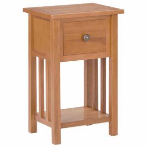 Mesa de apoio com gaveta 35x27x55 cm madeira carvalho maciça  - PORTES GRÁTIS