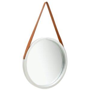 Espelho de parede com alça 50 cm prateado - PORTES GRÁTIS