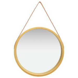 Espelho de parede com alça 60 cm dourado - PORTES GRÁTIS