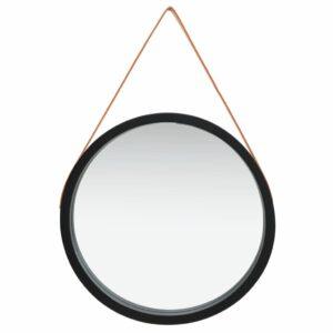 Espelho de parede com alça 60 cm preto - PORTES GRÁTIS