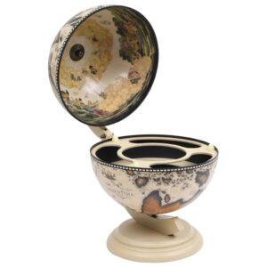 Garrafeira de mesa em forma de globo madeira de eucalipto branco - PORTES GRÁTIS