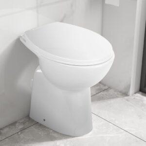 Sanita alta sem rebordo fecho suave cerâmica branco - PORTES GRÁTIS