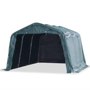 Tenda para gado removível PVC 550 g/m² 3,3x4,8 m verde escuro - PORTES GRÁTIS