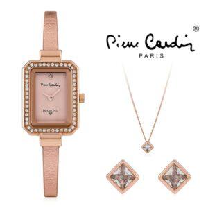 Conjunto Pierre Cardin® PCDX7902L3 | Relógio | Colar | Par de Brincos