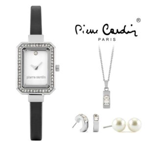 Conjunto Pierre Cardin® PCX6530L280 | Relógio | Colar | 2 Pares de Brincos