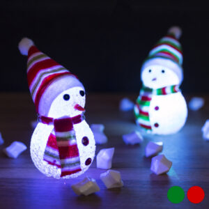 Adorno Natalício LED Boneco de Neve 145896 Verde