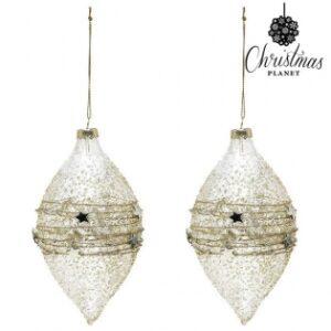 2 Bolas de Natal 2225  Cristal Dourado