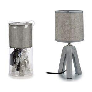 Lâmpada de Mesa Gift Decor Cerâmica (13 x 27,5 x 13 cm) Cinzento