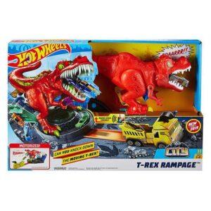 Pista Lançadora T-Rex Rampage Hot Wheels