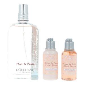 Conjunto de Perfume Mulher Fleurs De Cerisier L'occitane (3 pcs)
