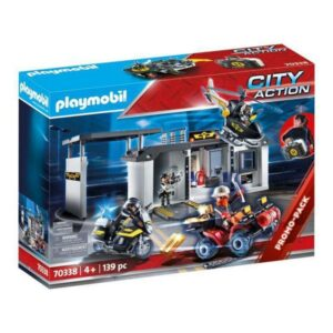 Playset Playmobil City Action Police Station Special Forces Playmobil (139 pcs)