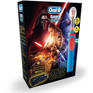 Escova de Dentes Elétrica Star Wars Oral-B Stages Power Vitality Azul Vermelho