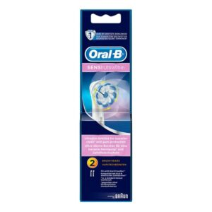 2 fORALRecargas para Escovas de Dentes Elétricas Sensi Ultrathin Clean Oral-B