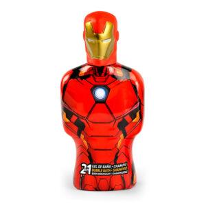Gel e Champô 2 em 1 Avengers Iron Man Cartoon (475 ml)