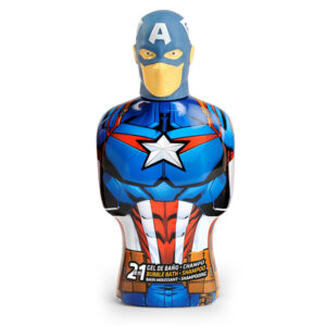 Gel e Champô 2 em 1 Avengers Capitán América Cartoon (475 ml)