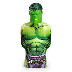 Gel e Champô 2 em 1 Avengers Hulk Cartoon (475 ml)