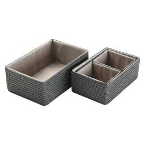 Conjunto de Caixas de Organização Empilháveis Polipropileno (4 Peças) (25 x 15 x 38 cm)