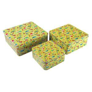 Conjunto de Caixas de Organização Empilháveis Metal (3 Peças) (22,2 x 8,9 x 23,7 cm)