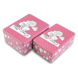 Conjunto de Caixas de Organização Empilháveis 16,6 x 9,1 x 21 cm (2 Peças)