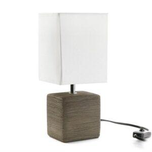 Lâmpada de Mesa Cerâmica (11 x 30 x 13 cm) Beige