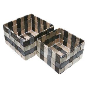 Conjunto de Caixas de Organização Empilháveis Polipropileno (2 Peças) (12 x 20 x 20 cm)
