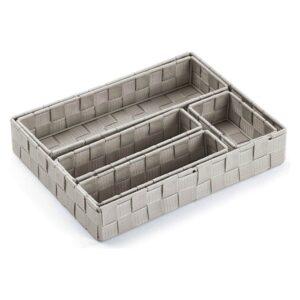 Conjunto de Caixas de Organização Empilháveis Têxtil (5 Peças) (6 x 34 x 26 cm)