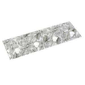 Bengaleiro Cristal (3 x 12 x 36 cm) Folhas
