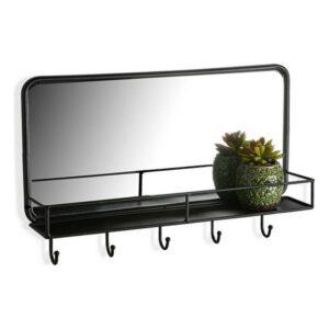 Espelho de parede Metal Preto (50 X 32 x 10 cm)