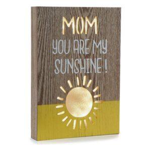 Caixa Decorativa Mom Sunshine Madeira (3,5 x 28 x 20 cm)