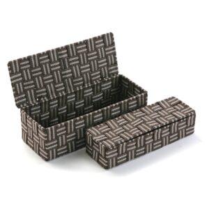Conjunto de Caixas de Organização Empilháveis Têxtil (2 Peças) (11,5 x 9 x 29,5 cm)