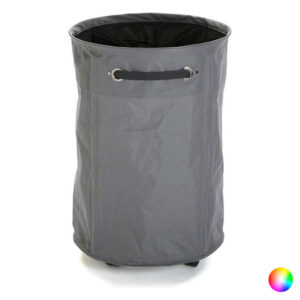 Cesto de Roupa Suja Têxtil (40 x 60 x 40 cm) Cinzento
