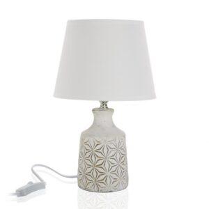 Lâmpada de Mesa Cerâmica Têxtil (20 x 32 x 20 cm)