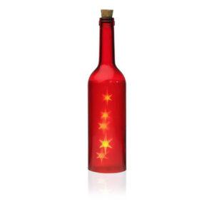 Garrafa LED Cosmo Cristal Vermelha